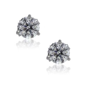 14k White Gold 2.19ctw Round Brilliant Diamond Stud Earrings