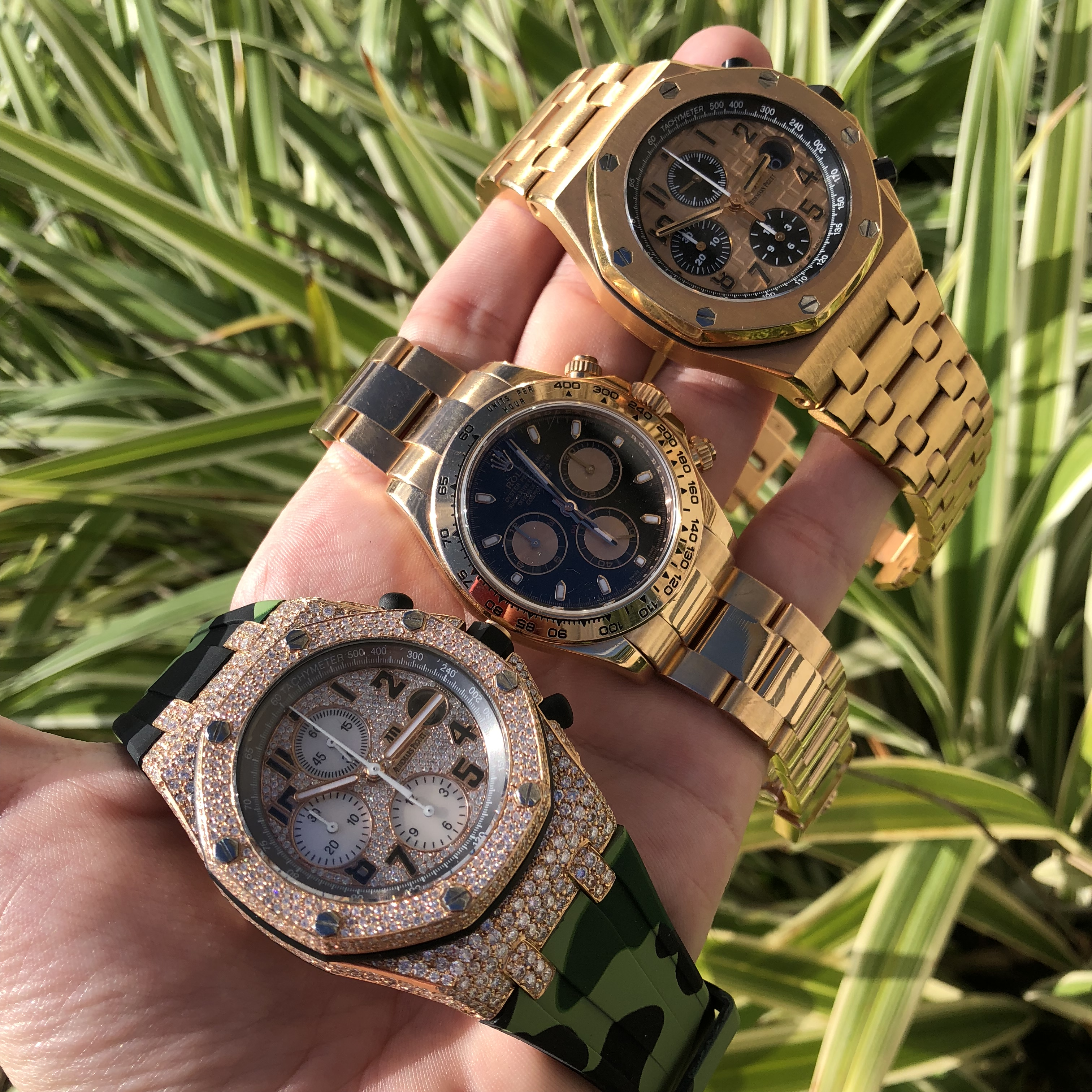 rose gold men's watches