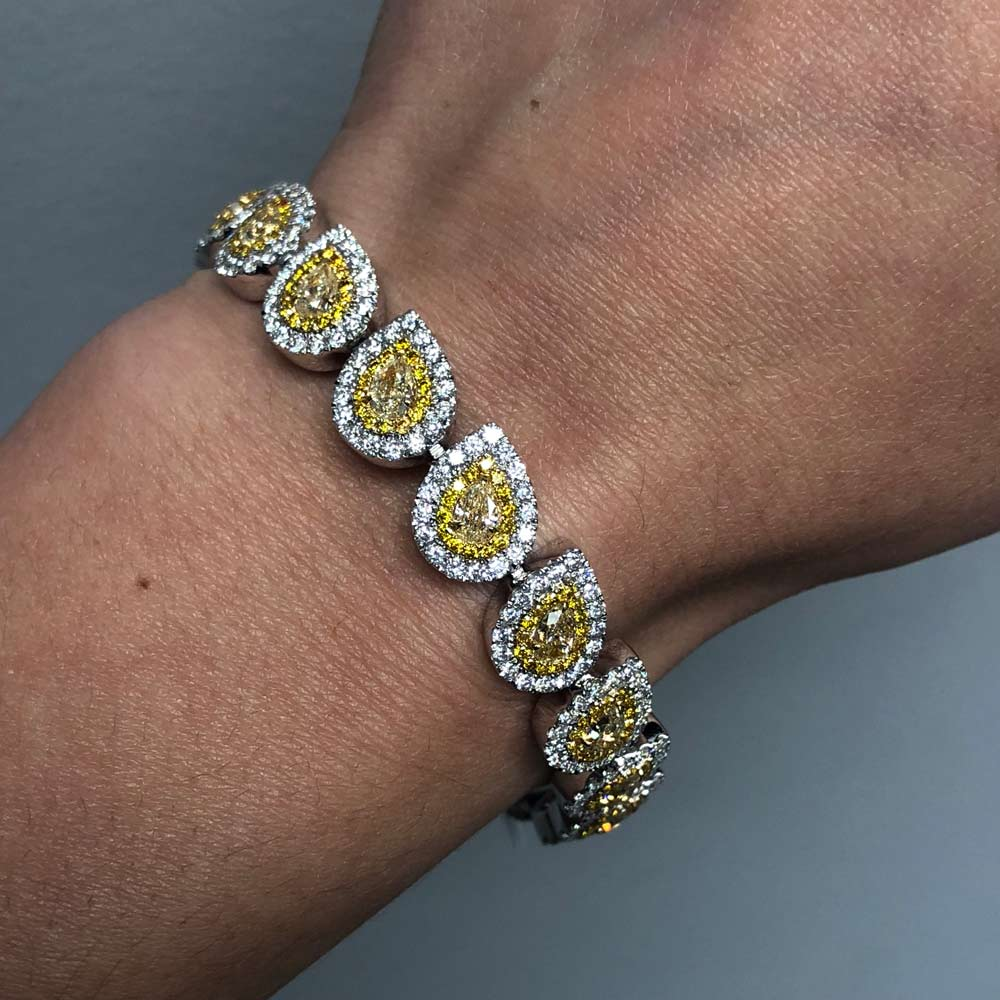 canary diamond tennis bracelet