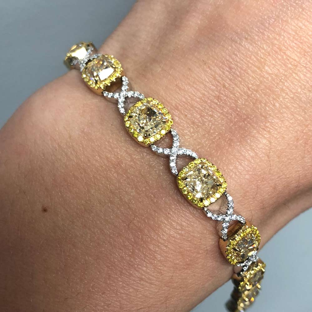 canary yellow bracelet boca raton