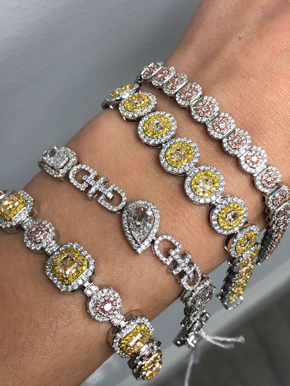 custom made diamond bracelets