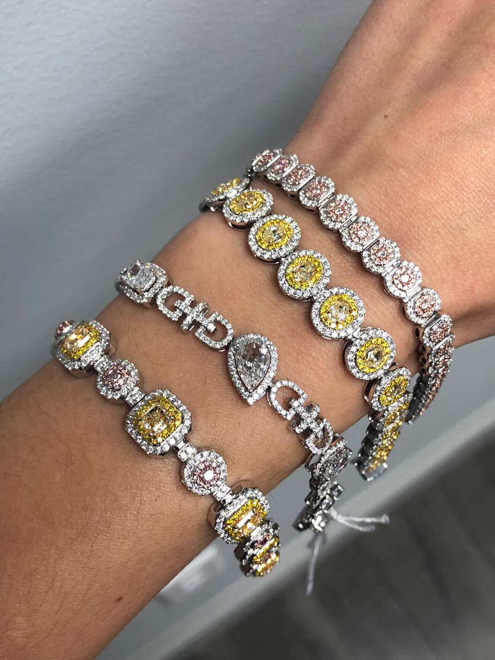 yellow diamond bracelets