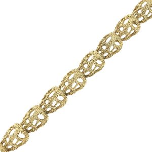 18k Yellow Gold Nugget Style Free Form Bracelet
