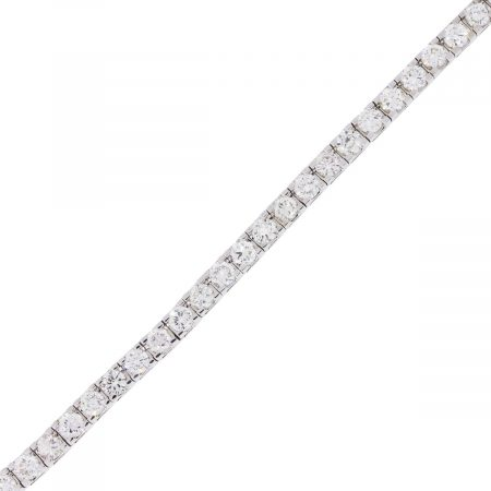 14k White Gold 7.69ctw Round Brilliant Diamond Tennis Bracelet