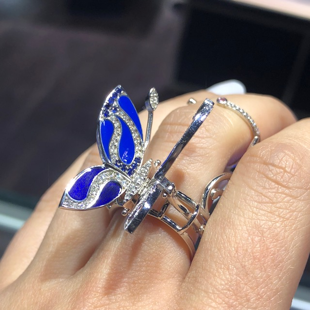 diamond cocktail ring butterfly