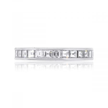 Tiffany and Co. Platinum 2ctw Asscher Cut Channel Set Eternity Band