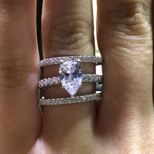 how to stack diamond rings