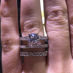 stackable rings with diamonds