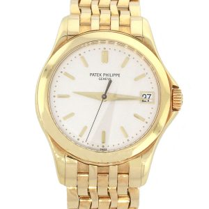 Patek Philippe 5107J Calatrava 18k Yellow Gold White Dial Watch
