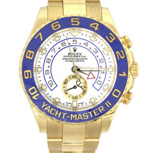 Rolex 116688 Yacht-Master II 18k Yellow Gold White Dial Watch