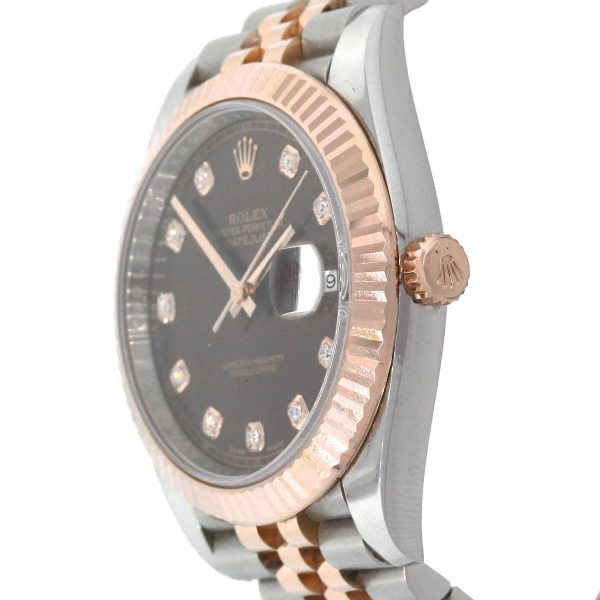 Rolex 126331 Datejust 18k Two Tone Chocolate Dial 41mm Watch