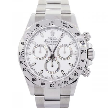 Rolex 116520 Daytona White Dial Stainless Steel Watch