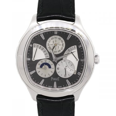 Piaget G0833018 Emperador Perpetual Calendar 18k White Gold on Leather Watch