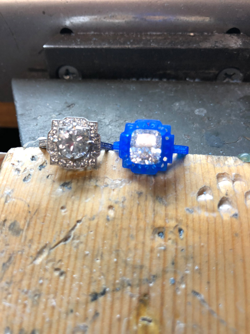 before and after engagement rings