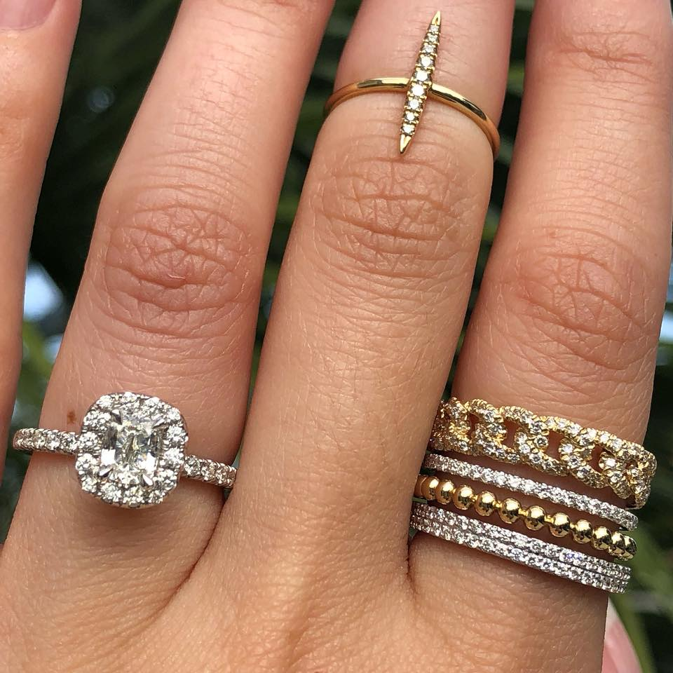 Stackable Wedding Bands.13 Styling Tips To Create The Most Stunning Diamond Ring Stacks In 2019