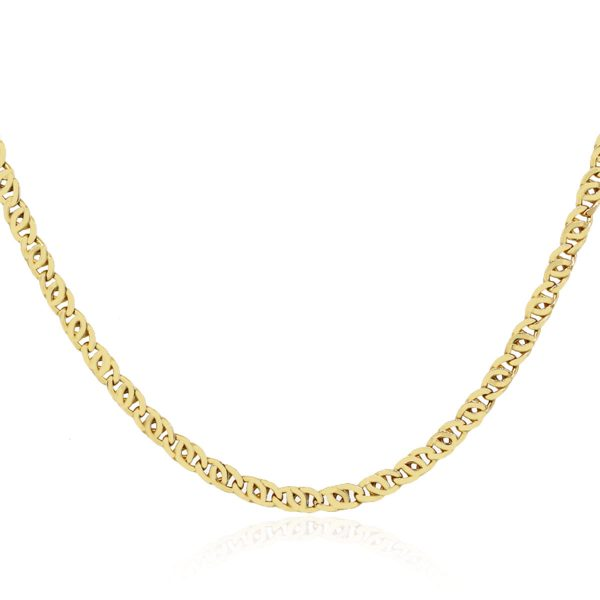 10k Yellow Gold Mariner Link Necklace