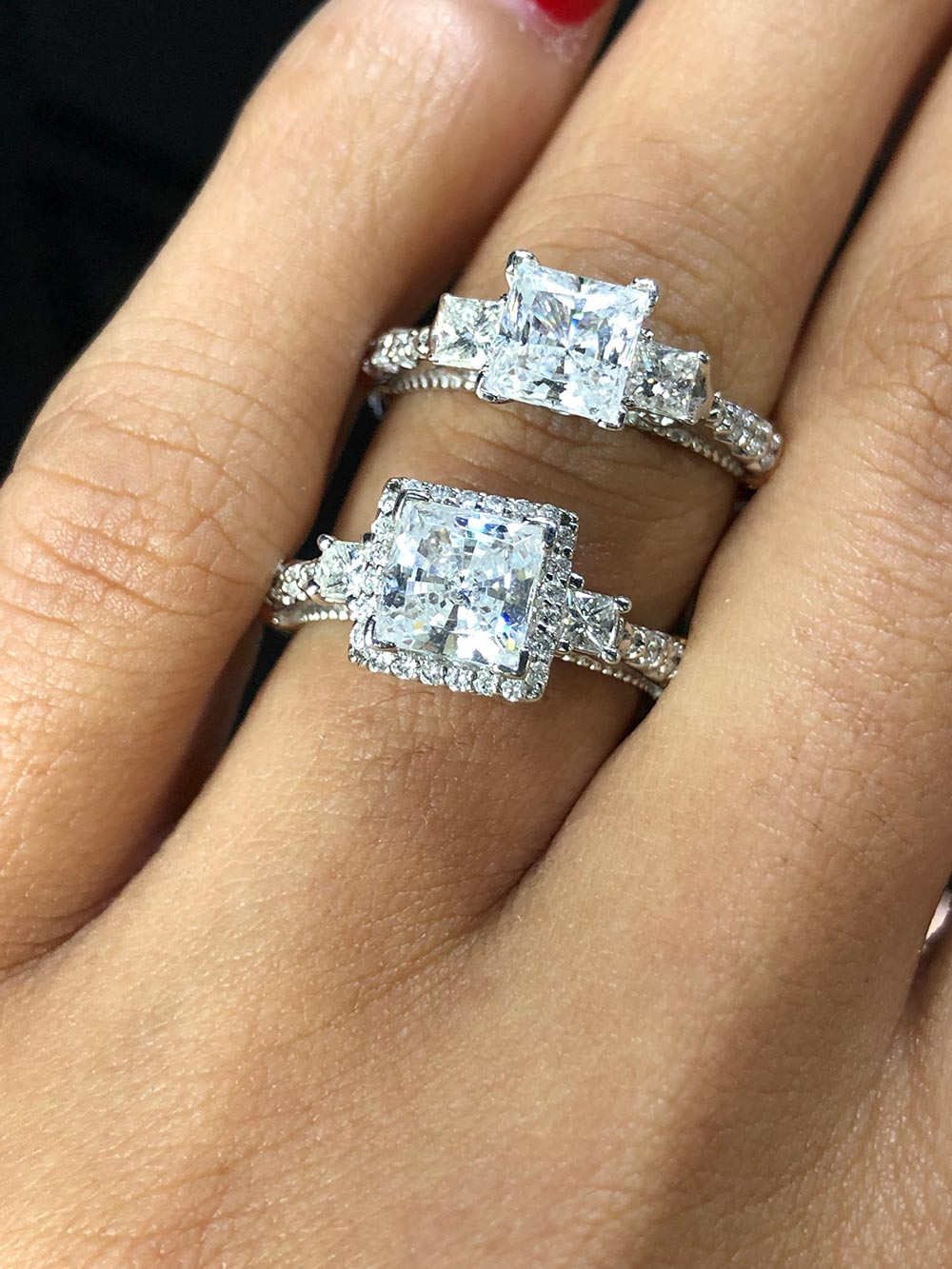 history of halo engagement rings