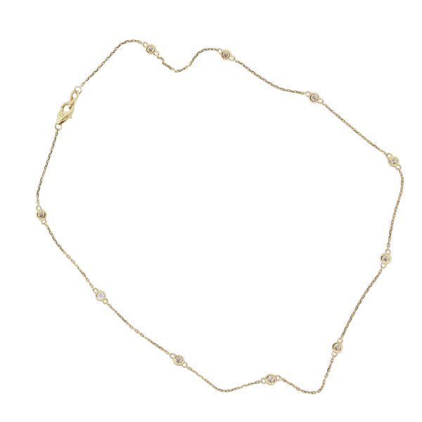 yellow gold necklce