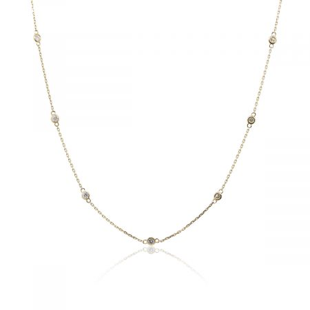 14k Yellow Gold 0.60ctw Diamonds by The Yard Necklace