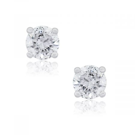 14k White Gold 1.53ctw Diamond Stud Earrings