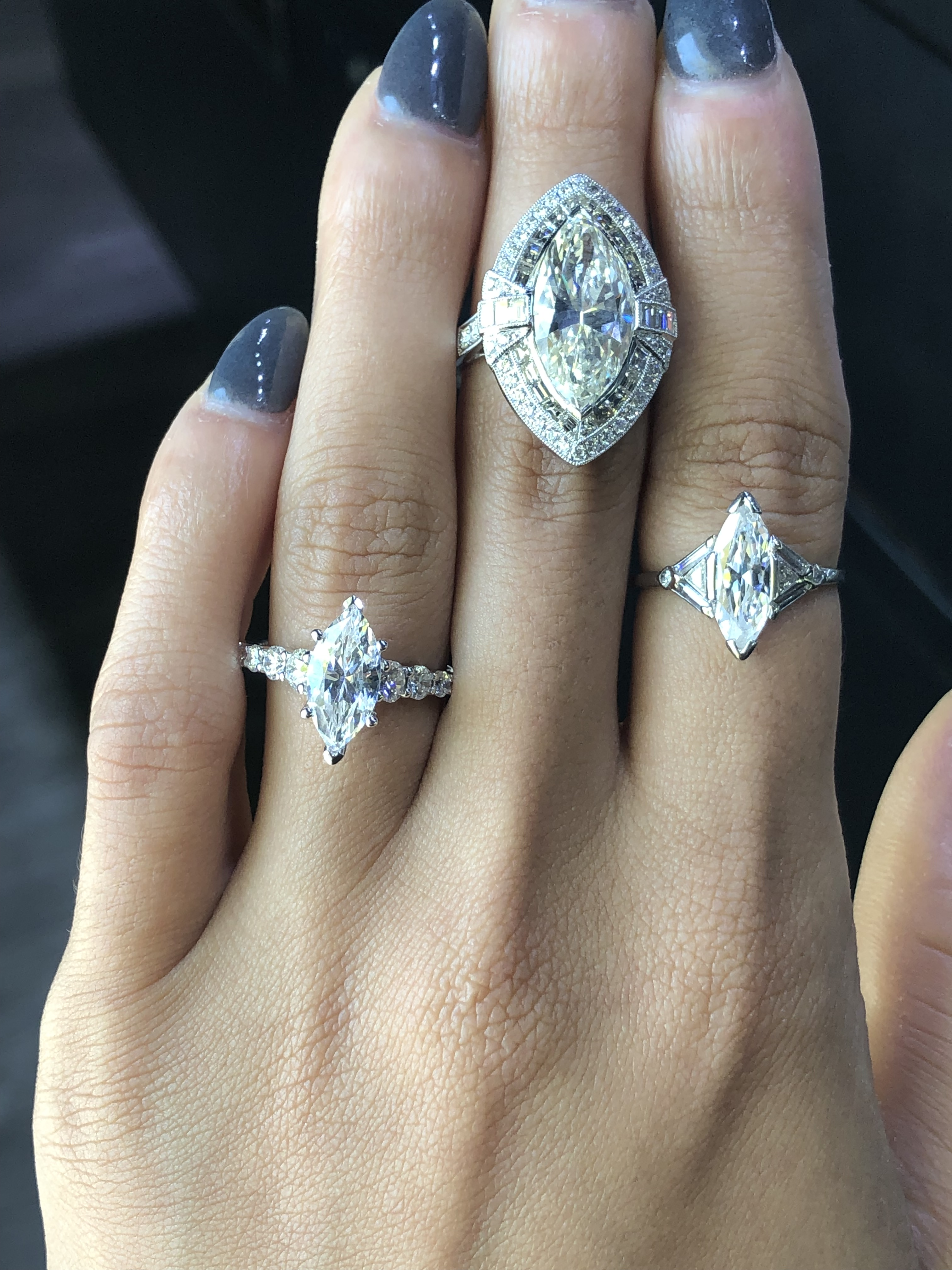 Marquise Diamond Engagement Rings For The Unique Bride