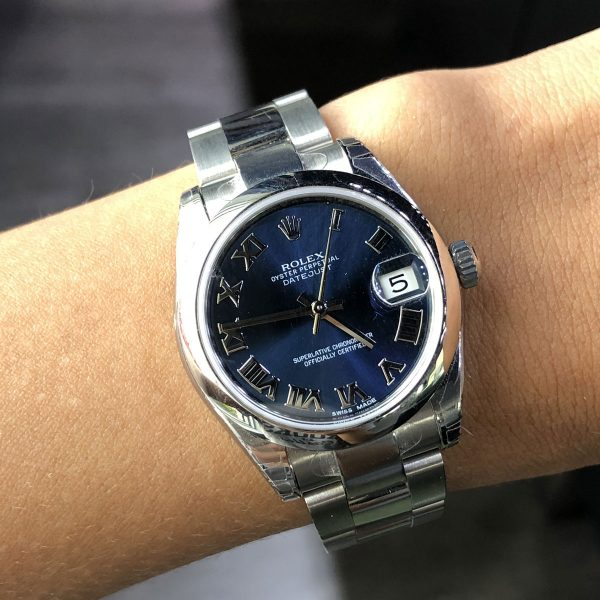 Rolex 178240 Datejust Stainless Steel Blue Roman Dial Watch
