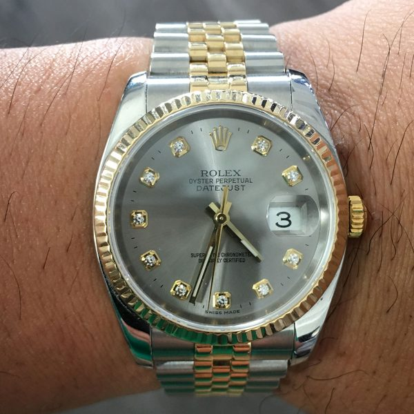 Rolex 116233 Datejust Two Tone Silver Dial Watch