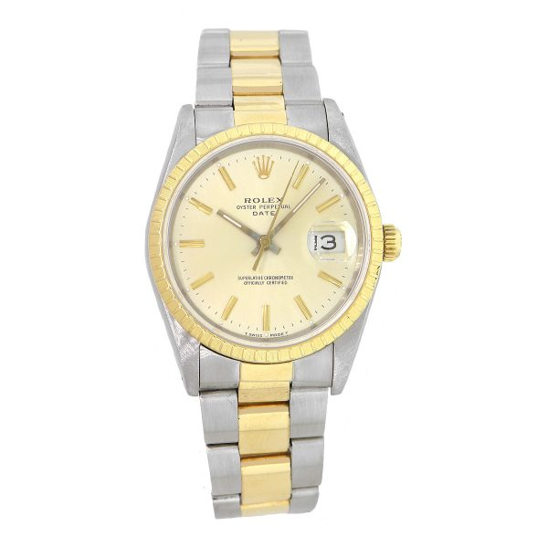 Rolex 15223 Date Two Tone Champagne Dial Watch