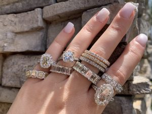 engagement ring buying different diamond cuts and styles