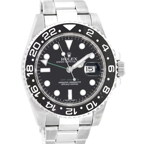 Rolex 116710 GMT Master II Stainless Steel Black Dial Watch