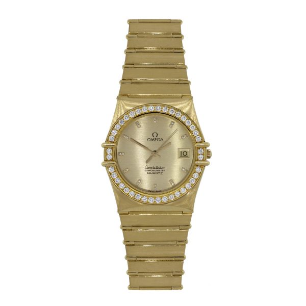 yellow gold omega watch