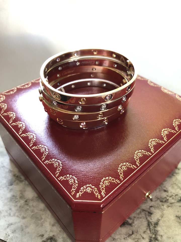 cartier love bracelet size 17 or 18