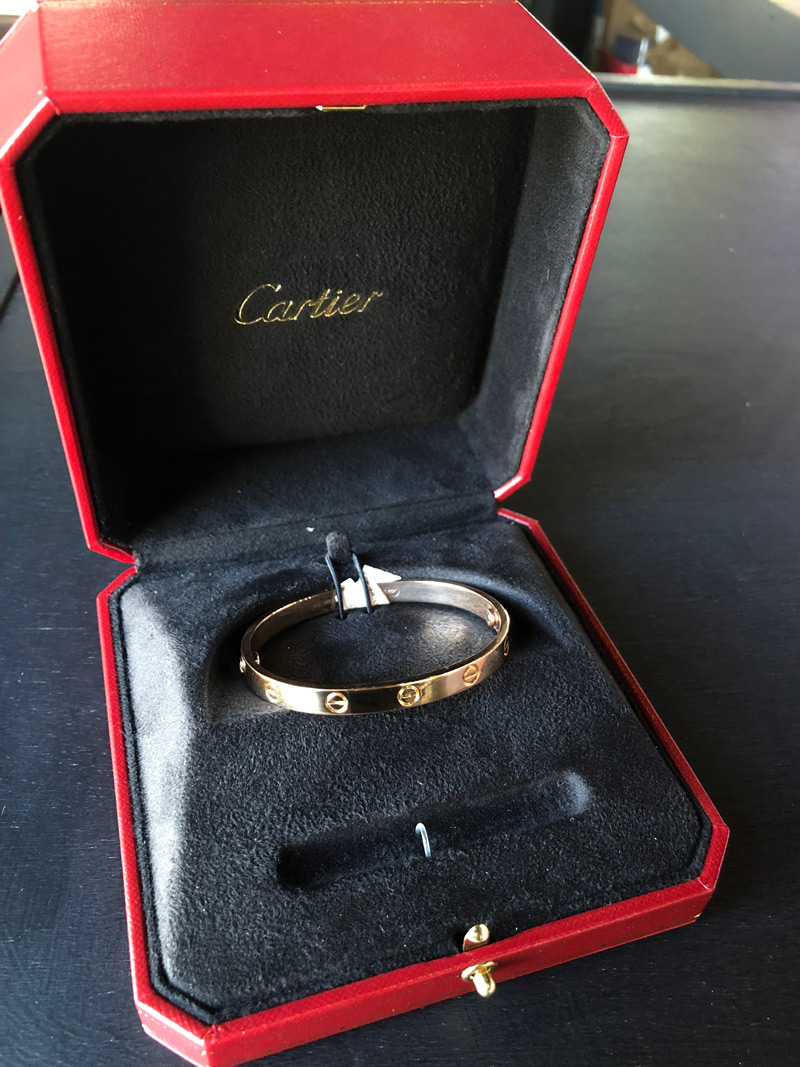 cartier love bracelet thin vs thick