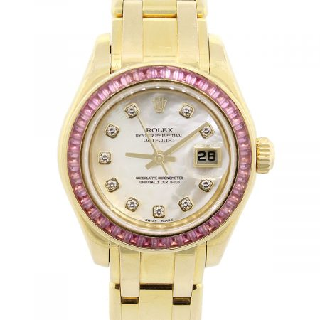 Rolex 80308 Datejust Mother of Pearl Diamond Dial Sapphire Bezel Watch