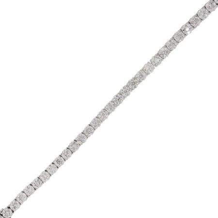 14k White Gold 6ctw Illusion Set Diamond Bracelet