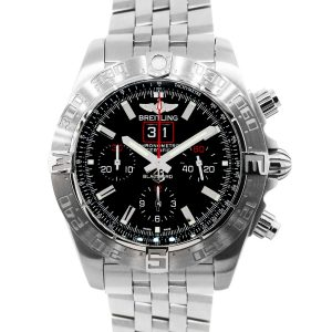 Breitling A44360 Blackbird Limited Edition Black Dial Stainless Steel Watch