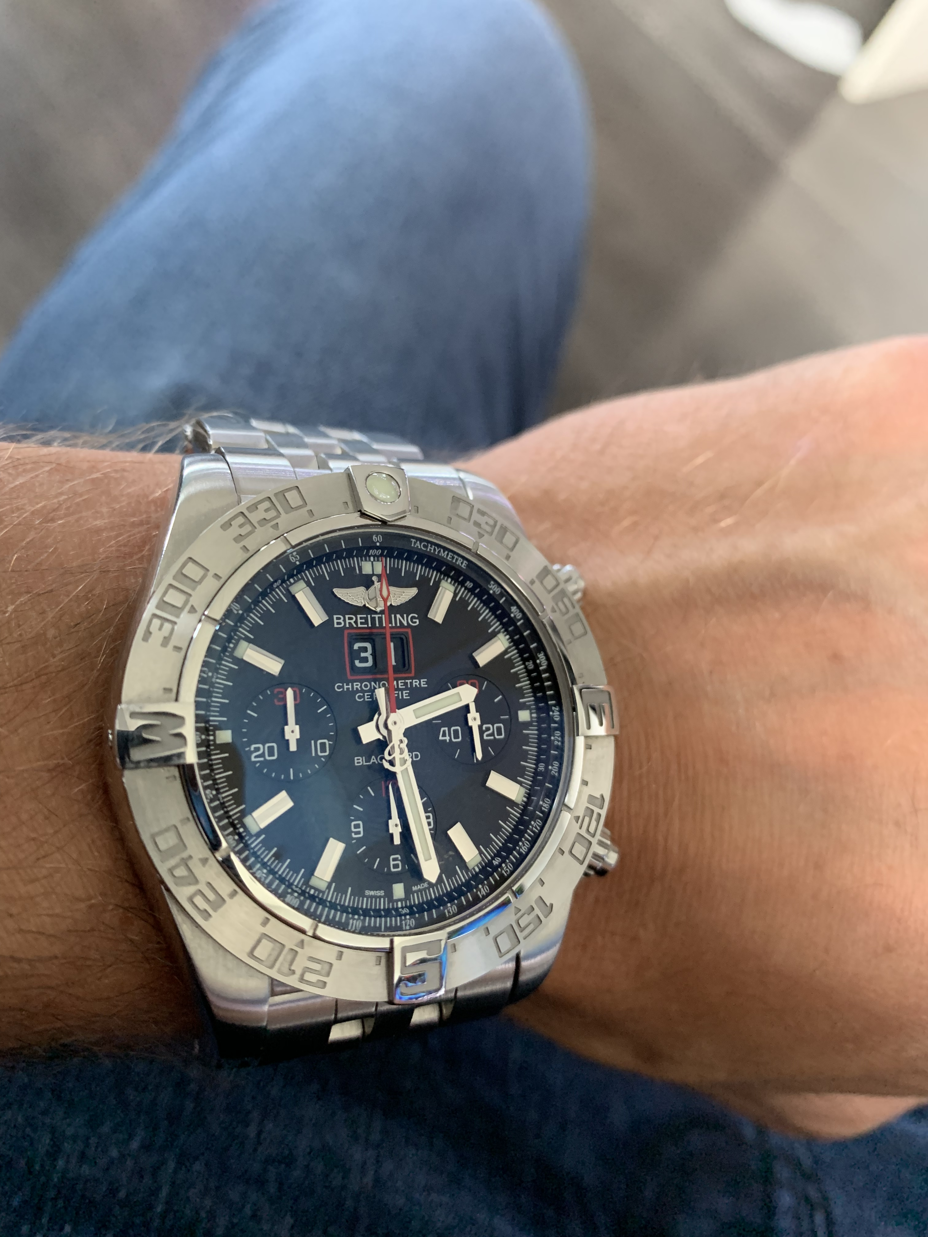 breitling blackbird limited edition stainless steel watch