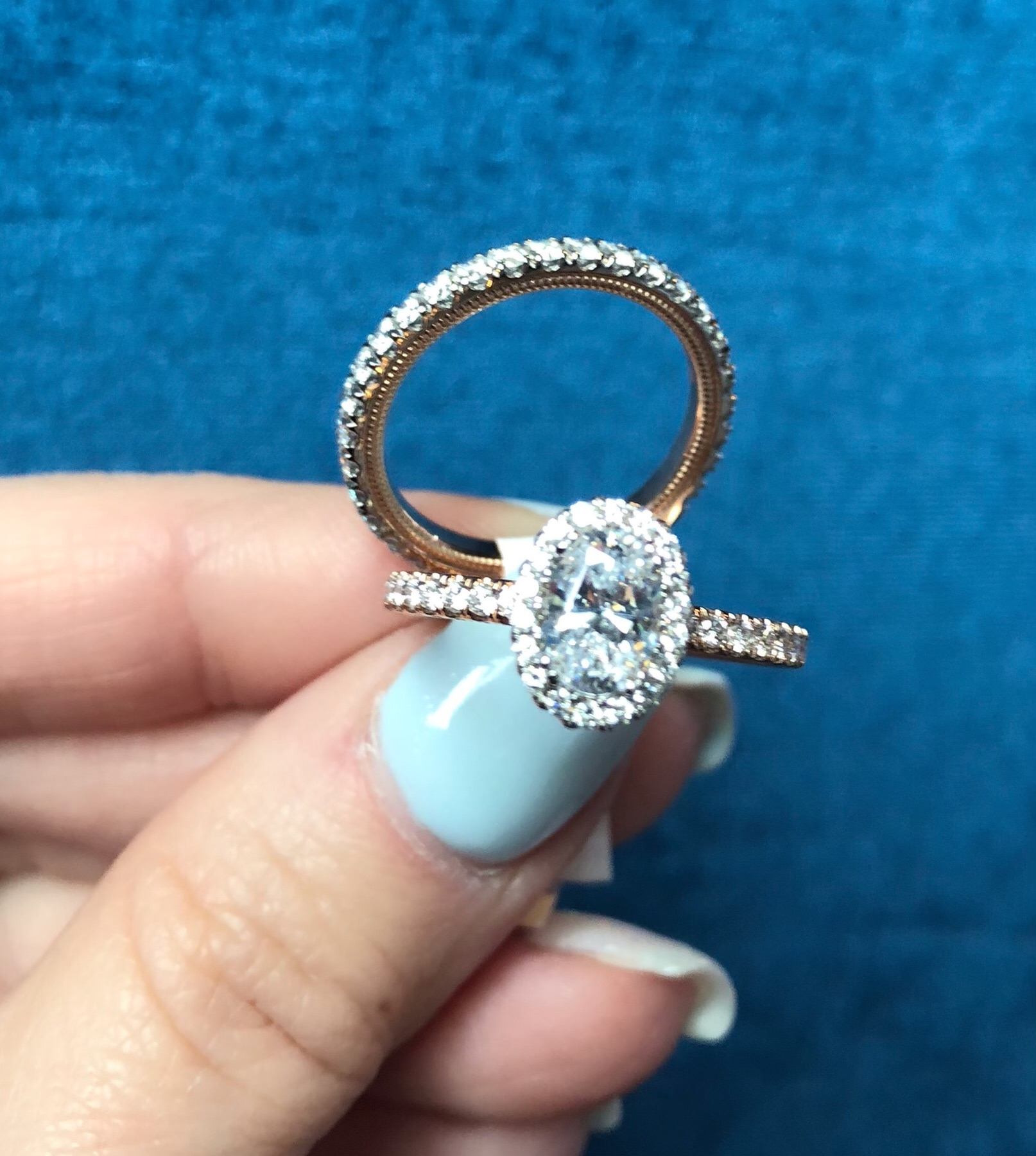 engagement rings and wedding band