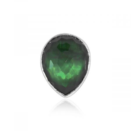 Ippolita Sterling Silver Rock Candy Green Pear Shape Ring