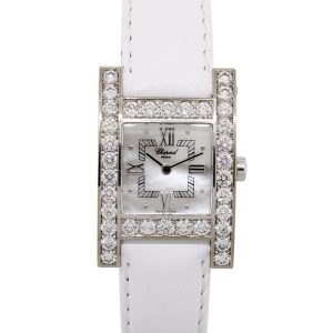 Chopard 445/1 Your Hour 18k White Gold Diamond Bezel Watch
