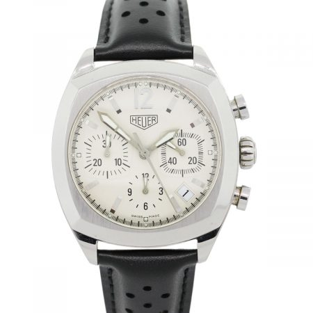Tag Heuer CR2111 Monza Stainless Steel On Leather Strap Watch