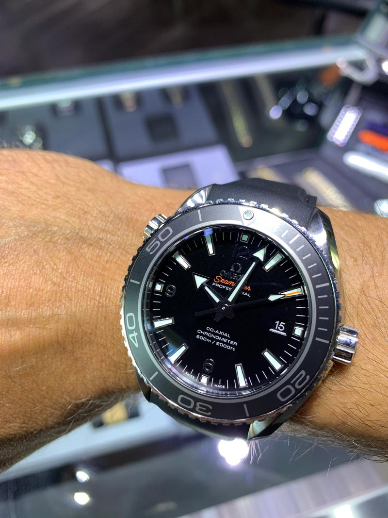 omega seamaster planet ocean chronograph review