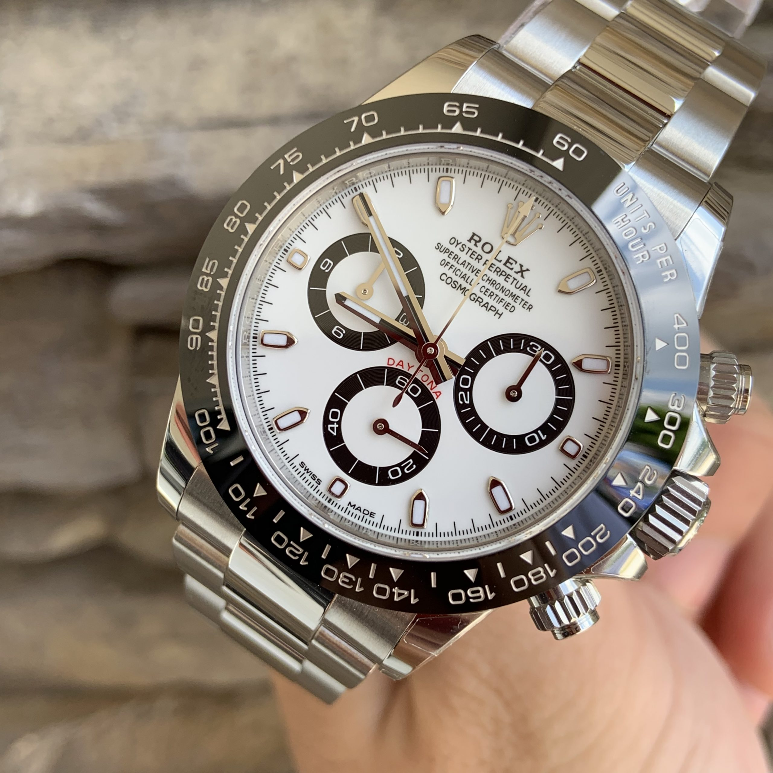 Daytona Watch white & black ceramic dial Rolex
