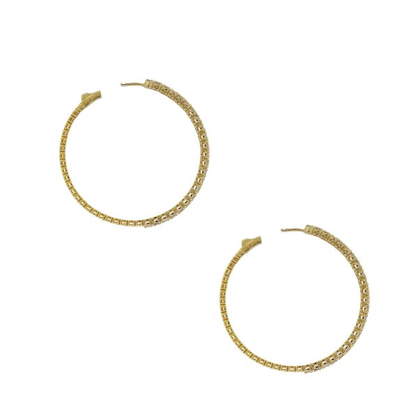 diamond hoop earrings boca