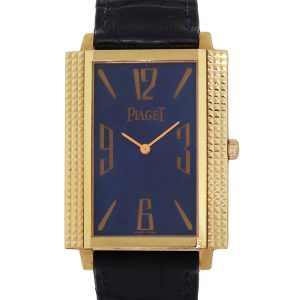 Piaget 90300 Mécanique 18k Rose Gold on Leather Band Watch