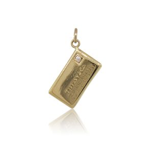 Tiffany & Co. 18k Yellow Gold and Diamond Letter Charm