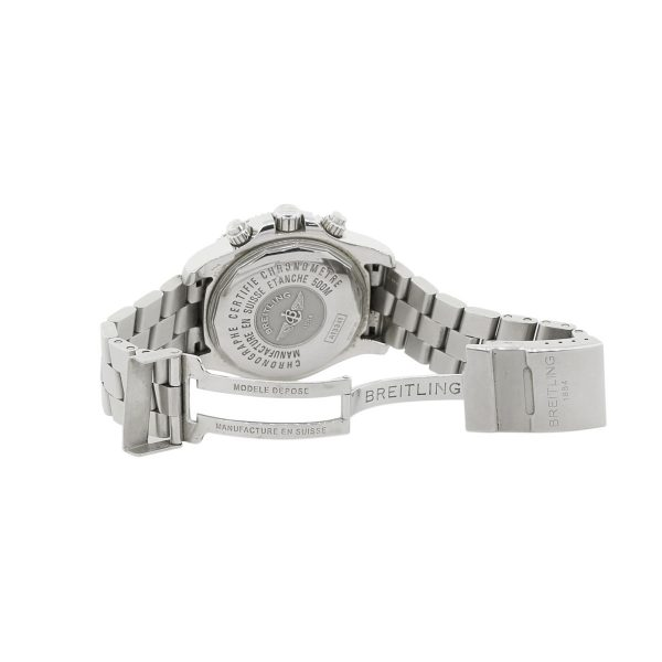 stainless steel breitling watch