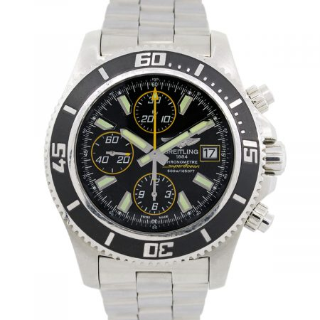 Breitling A13341 Superocean Chronograph Black Dial Stainless Steel Watch