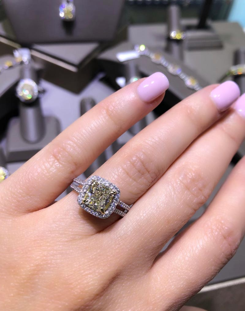 how much are fancy yellow diamond rings