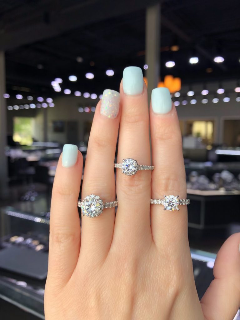 round engagement ring near me
